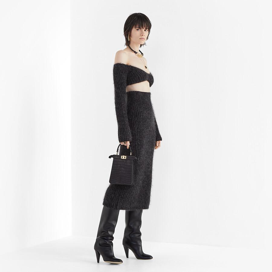 FENDI SKIRT - Grey mohair skirt - view 4 detail