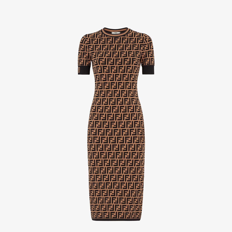 FENDI DRESS - FF motif fabric dress - view 1 detail