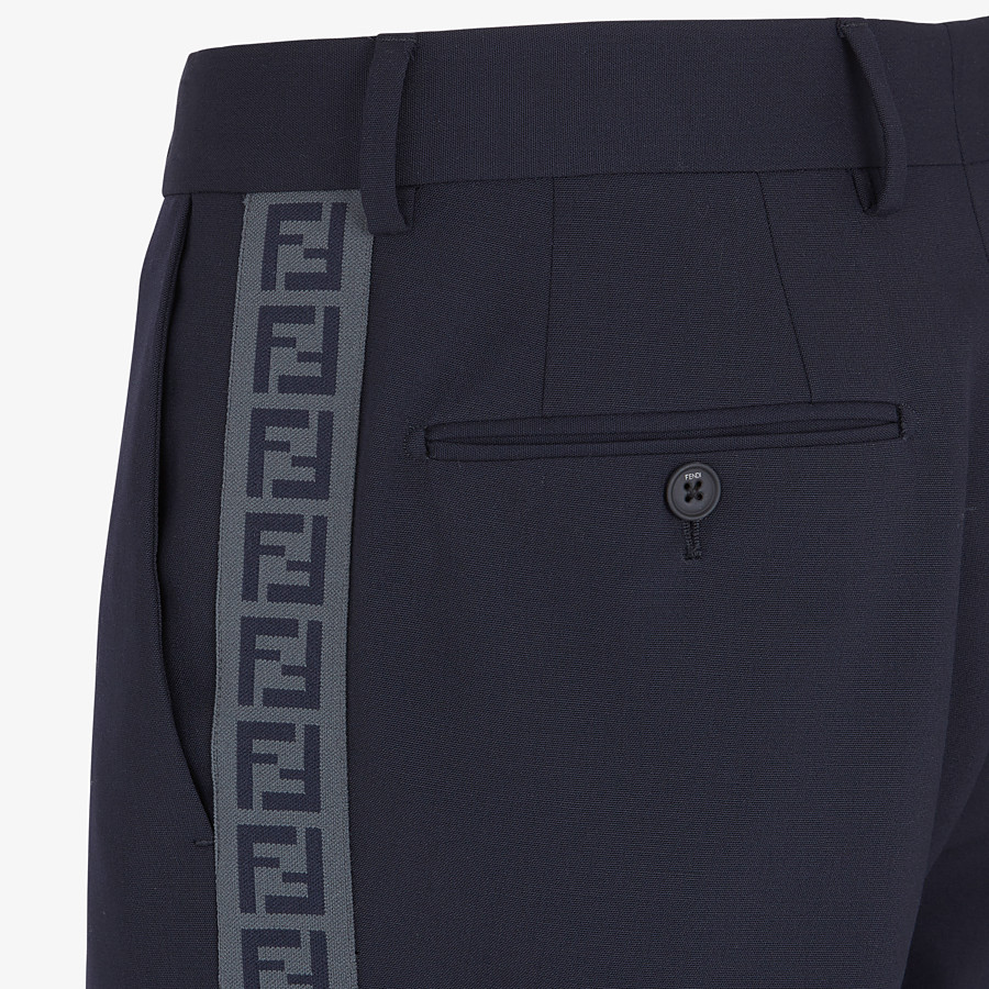 FENDI PANTS - Blue wool pants - view 3 detail