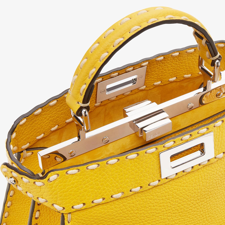 FENDI PEEKABOO ISEEU SMALL - Yellow full grain leather bag - view 5 detail