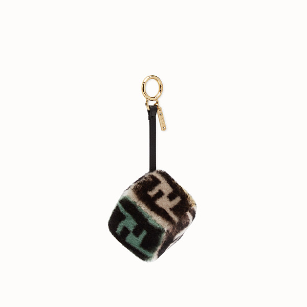 FENDI CUBE CHARM - Multicolor sheepskin charm - view 1 small thumbnail