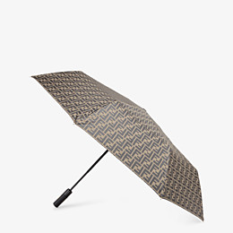 FENDI UMBRELLA - Brown tech fabric umbrella - view 1 thumbnail