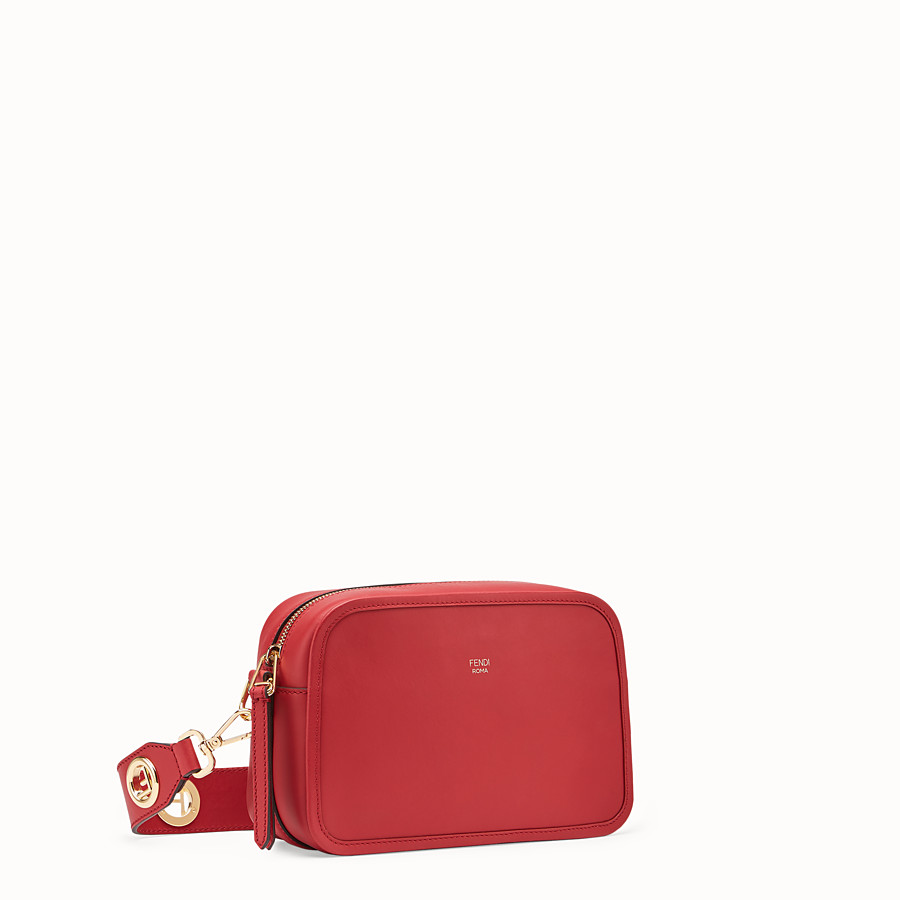 FENDI CAMERA CASE - Red leather bag - view 2 detail