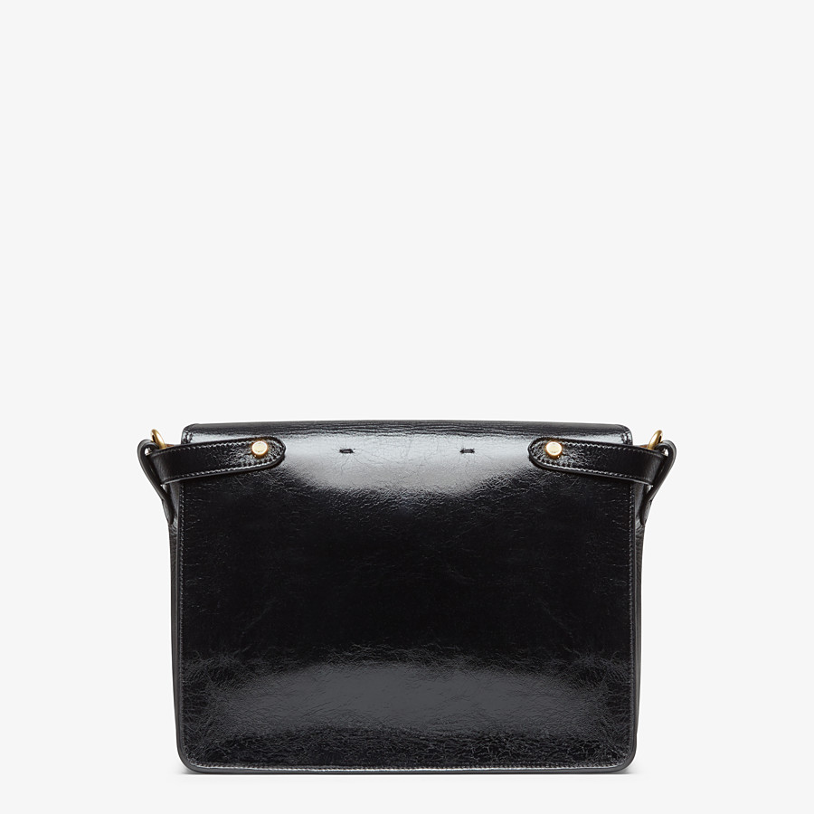 FENDI KAN U LARGE - Black leather bag - view 3 detail