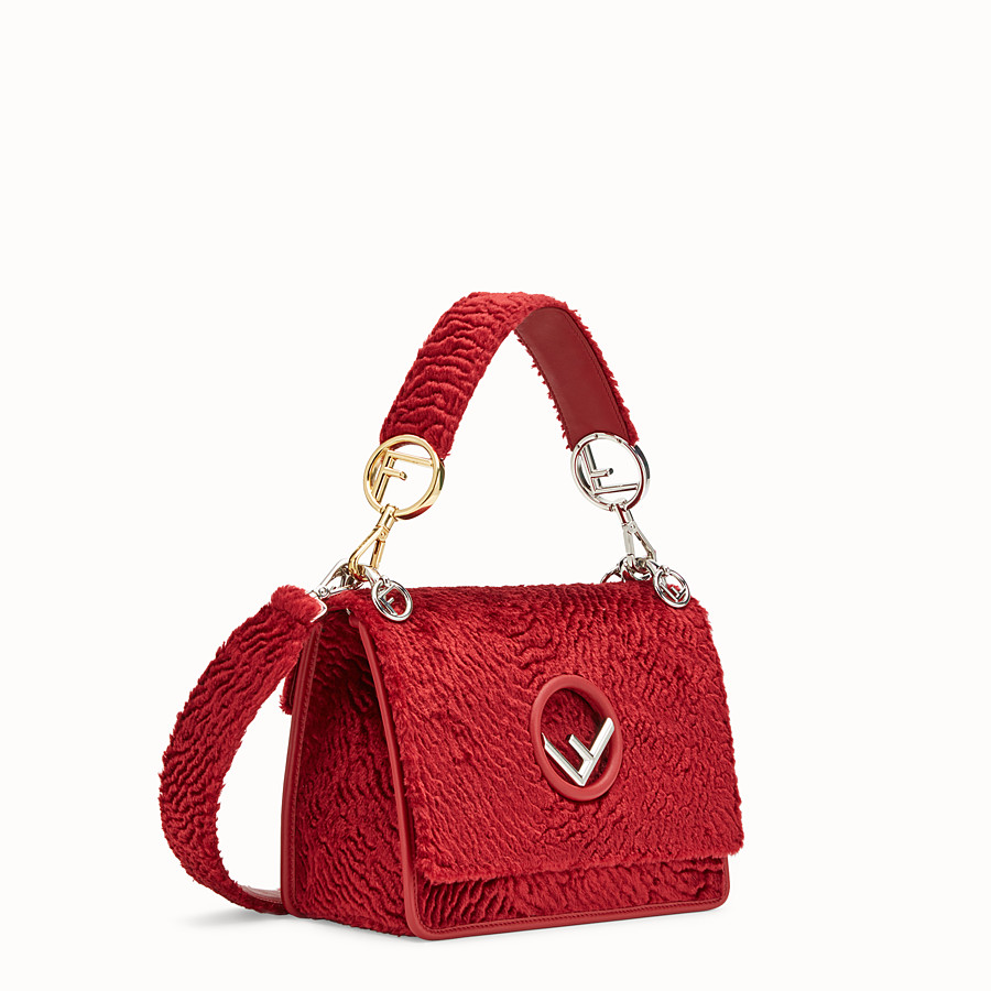 FENDI KAN I F - Red velvet bag - view 2 detail