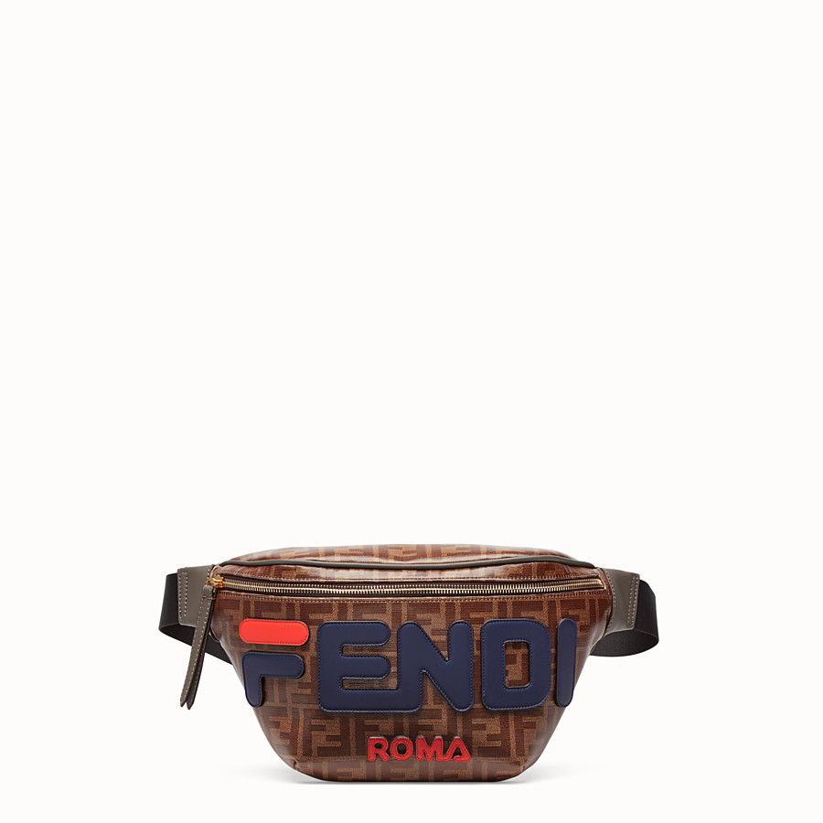 FENDI POUCH - Multicolour canvas belt bag - view 1 detail
