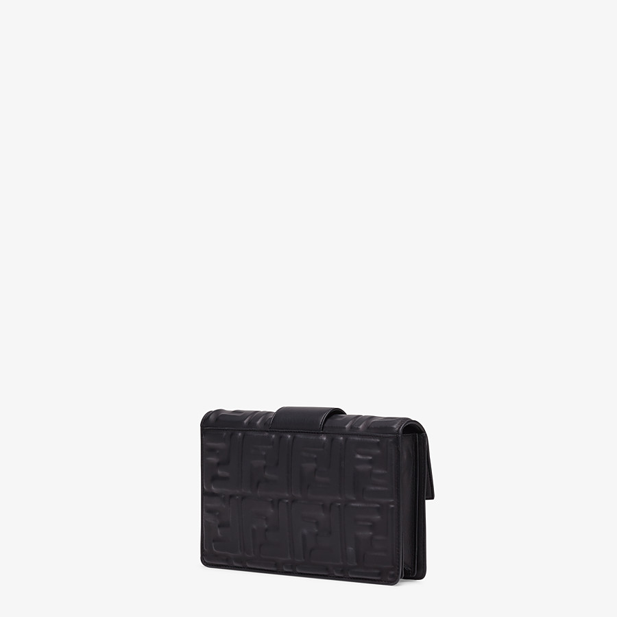 FENDI STANDING CLUTCH - Black nappa leather clutch - view 2 detail