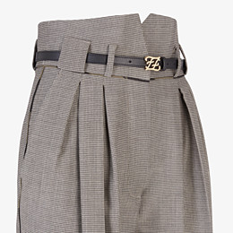 FENDI TROUSERS - Trousers in houndstooth wool - view 3 thumbnail