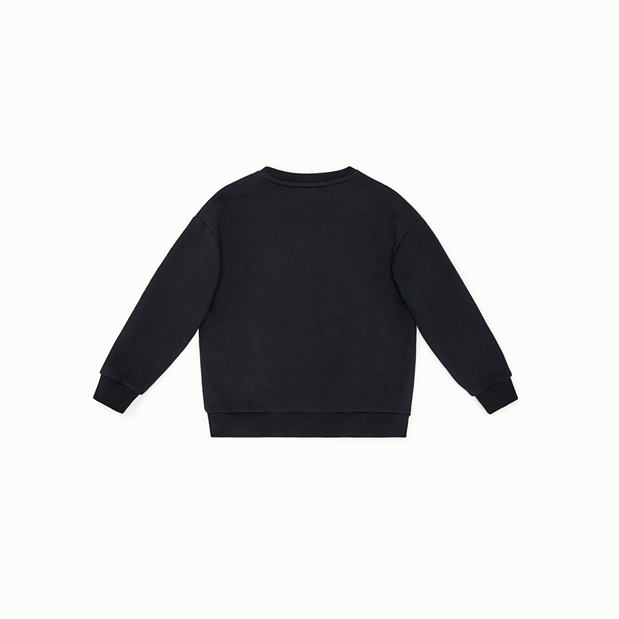 FENDI FENDI MANIA SWEATSHIRT - Black cotton sweatshirt - view 2 detail