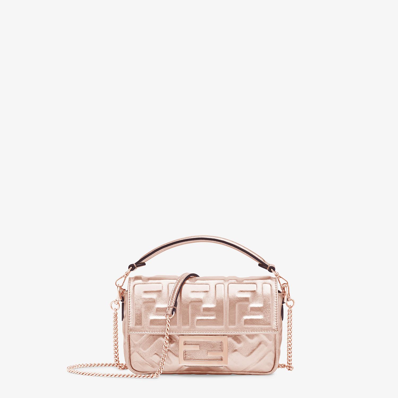 FENDI BAGUETTE MINI - Pink leather bag - view 1 detail