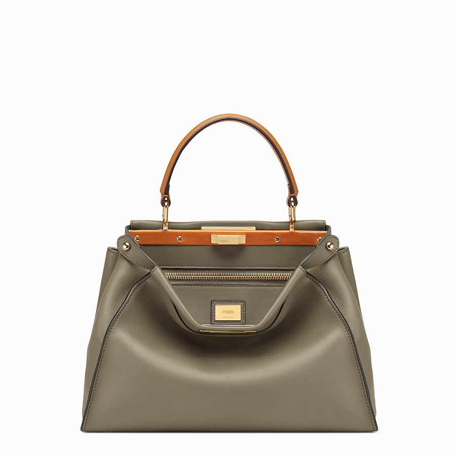 FENDI PEEKABOO REGULAR - Green leather bag - view 1 detail