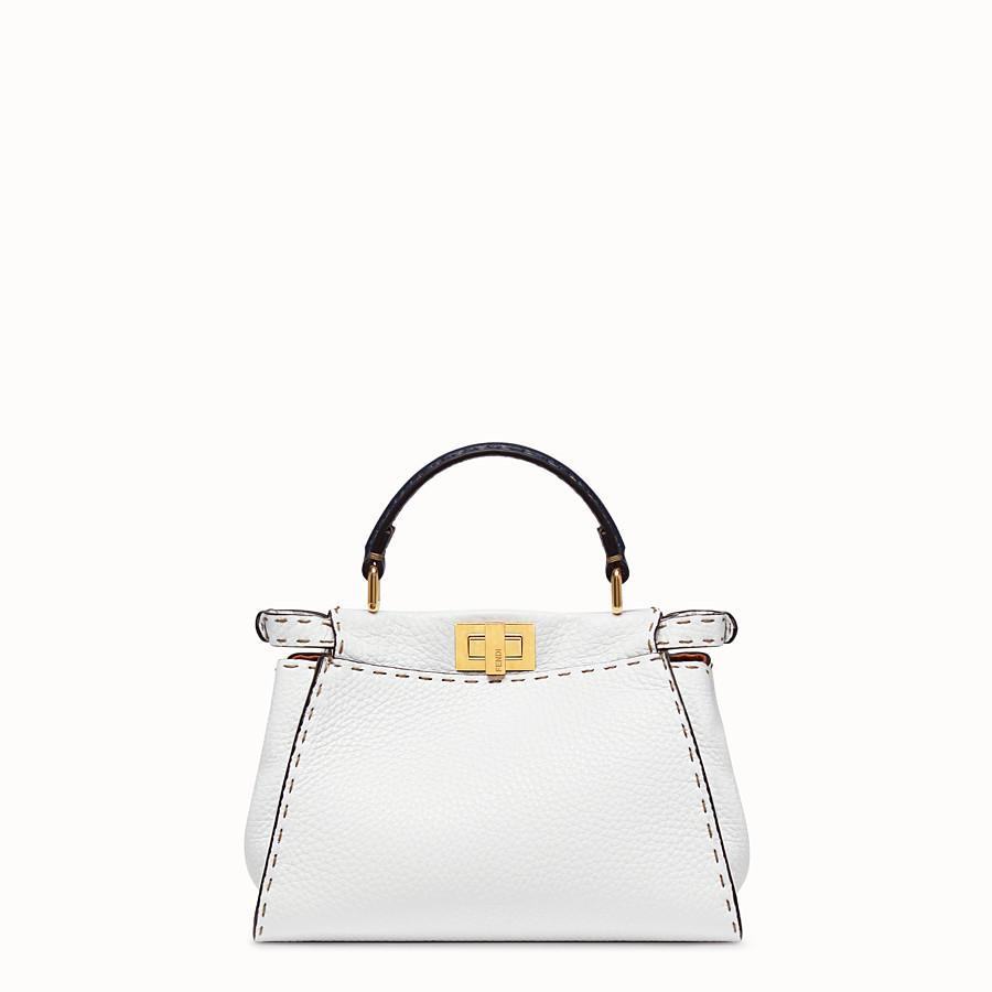 FENDI PEEKABOO ICONIC MINI - White leather bag - view 4 detail