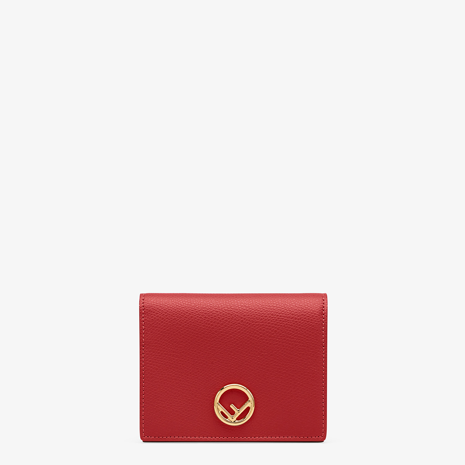 FENDI BIFOLD - Red leather compact wallet - view 1 detail