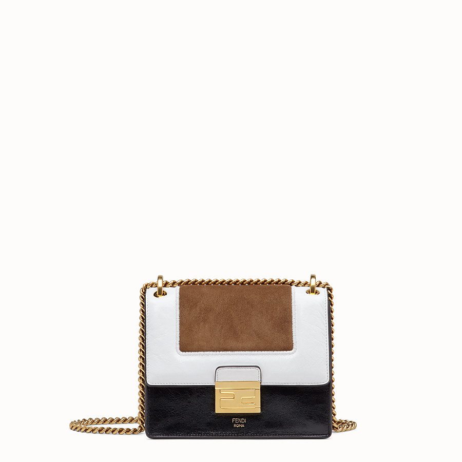 FENDI KAN U SMALL - Leather and suede minibag - view 1 detail