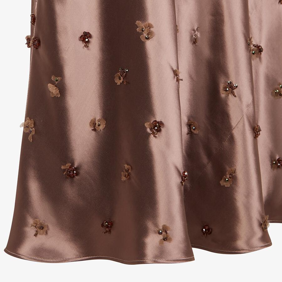 FENDI DRESS - Brown satin dress - view 3 detail