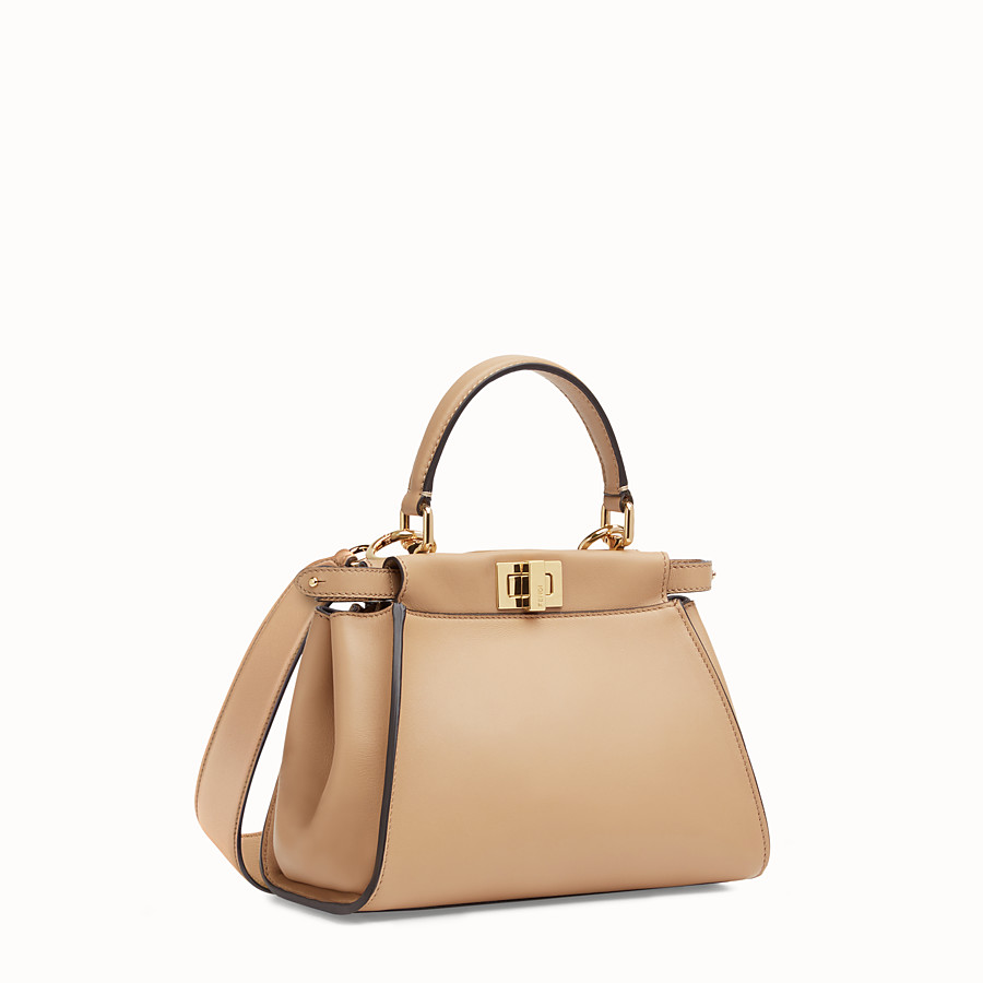FENDI PEEKABOO ICONIC MINI - Borsa in pelle marrone - vista 3 dettaglio