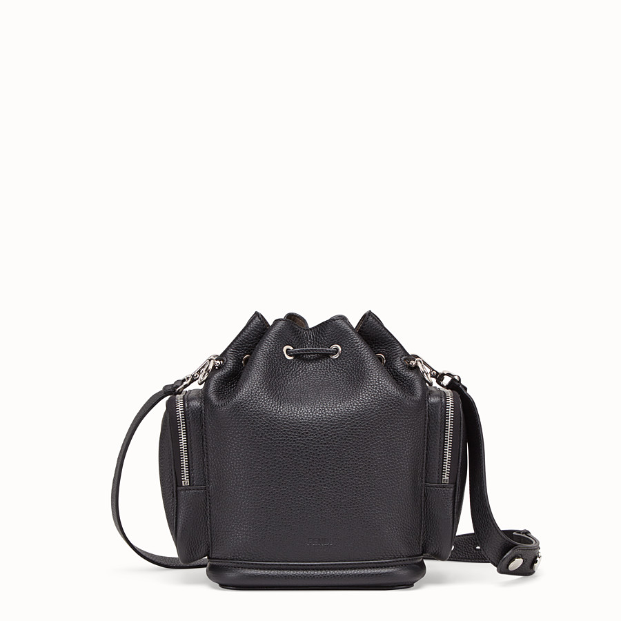 FENDI MON TRESOR - Black leather bag - view 3 detail