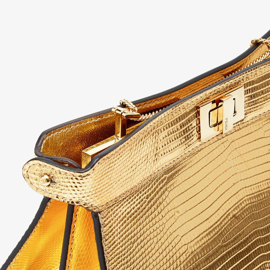 FENDI PEEKABOO ISEEU POCHETTE - Gold lizard leather bag - view 6 detail