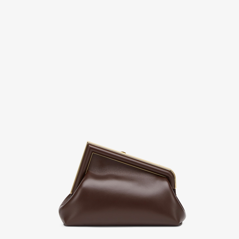FENDI FENDI FIRST SMALL - Dark brown leather bag - view 3 detail
