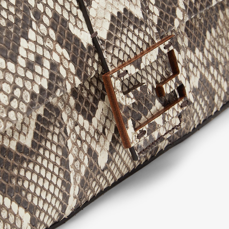 FENDI BAGUETTE 1997 - Natural python leather bag - view 6 detail