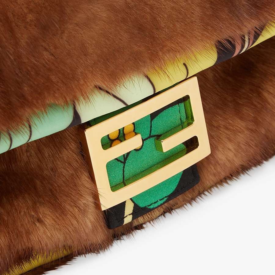 FENDI BAGUETTE - Brown mink bag - view 6 detail