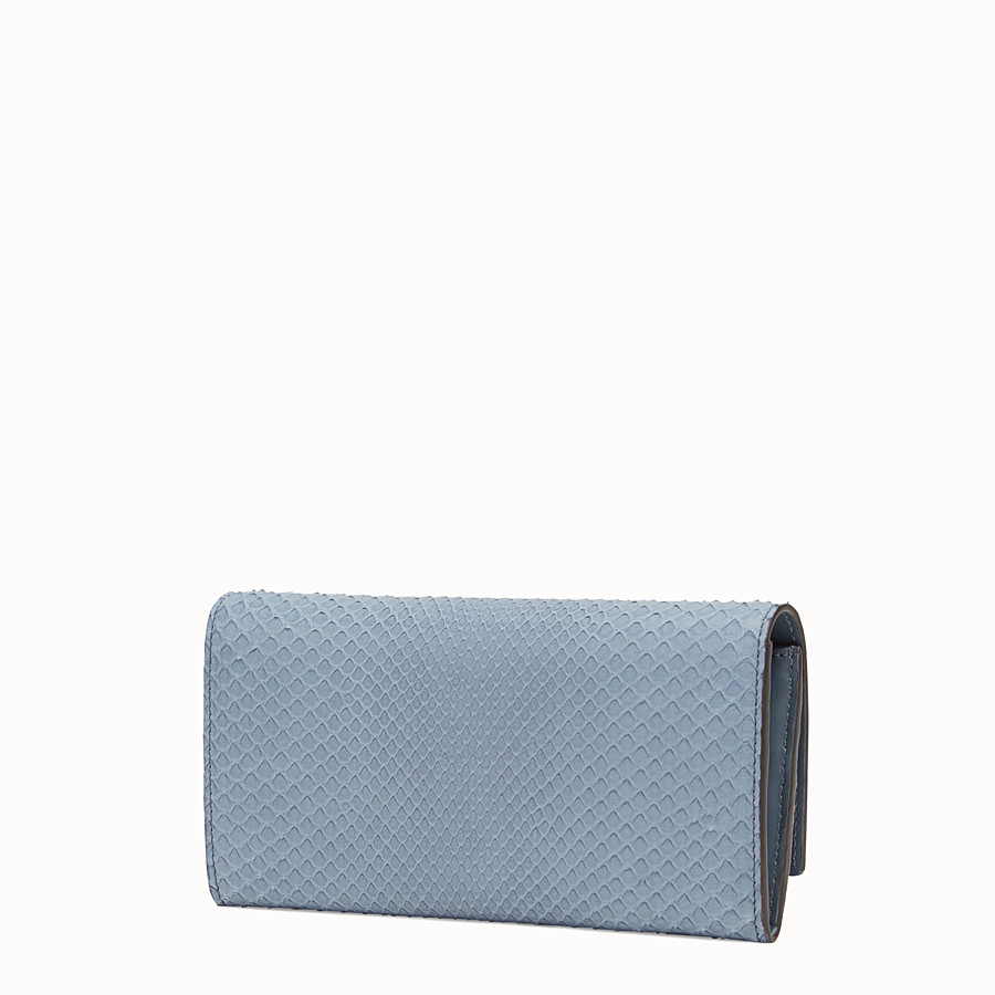 FENDI CONTINENTAL - Wallet in blue python skin - view 2 detail
