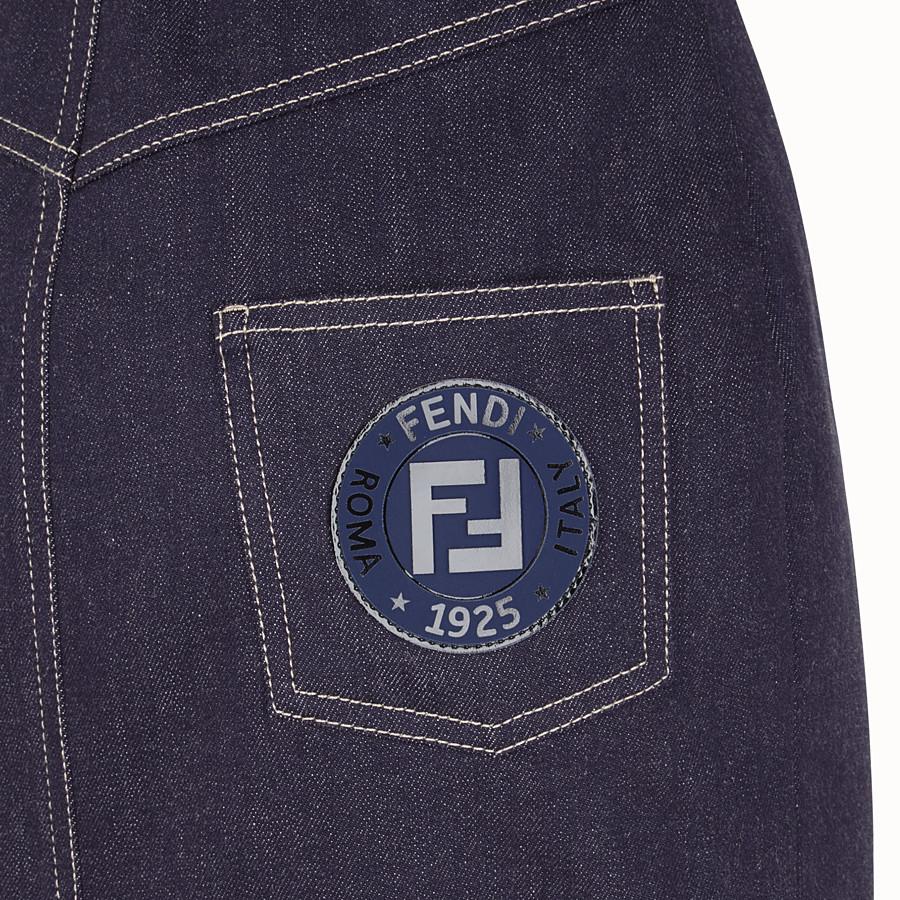 FENDI 스커트 - 블루 컬러의 데님 스커트 - view 3 detail