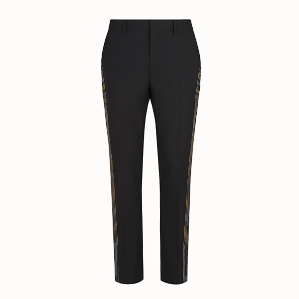 FENDI TROUSERS - Black wool trousers - view 1 small thumbnail