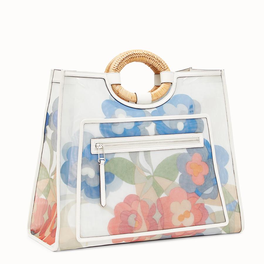 FENDI RUNAWAY SHOPPER - Multicolour leather and mesh shopper bag - view 2 detail