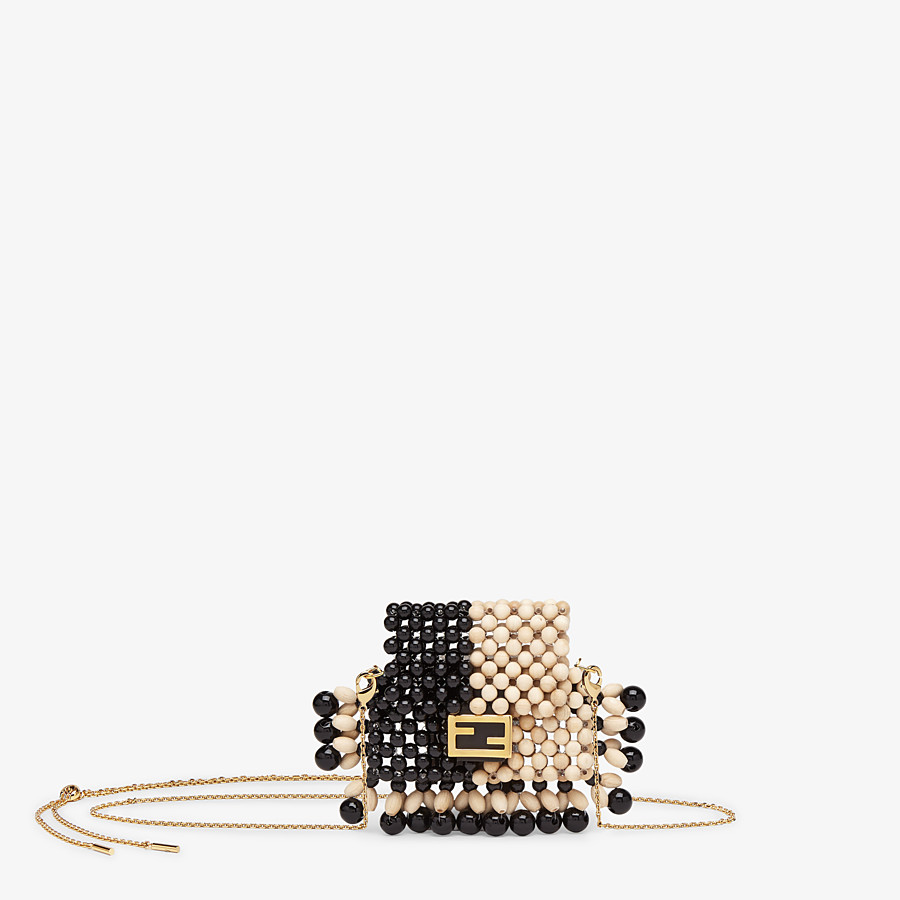 FENDI PICO BAGUETTE CHARM - Charm with beige beads - view 1 detail