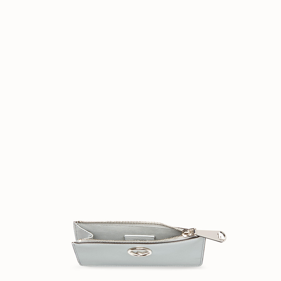 FENDI CARD POUCH - Grey leather pouch - view 4 detail