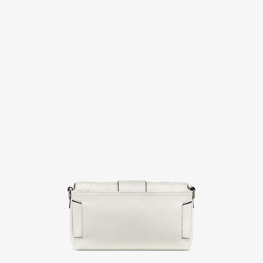 FENDI BAGUETTE - White nappa leather bag - view 4 detail