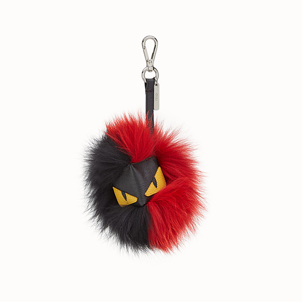 FENDI CUBE MONSTER CHARM - Charm in red and black fur - view 1 small thumbnail