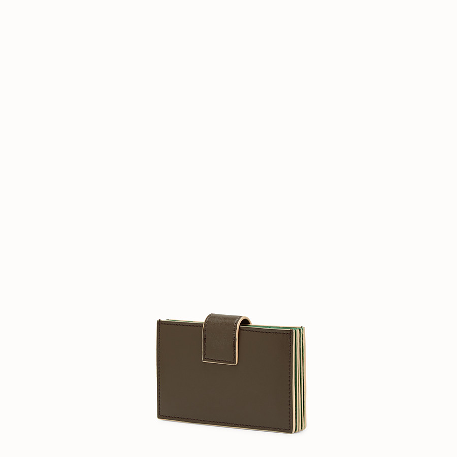 FENDI CARD HOLDER - Business card case in brown leather - view 2 detail