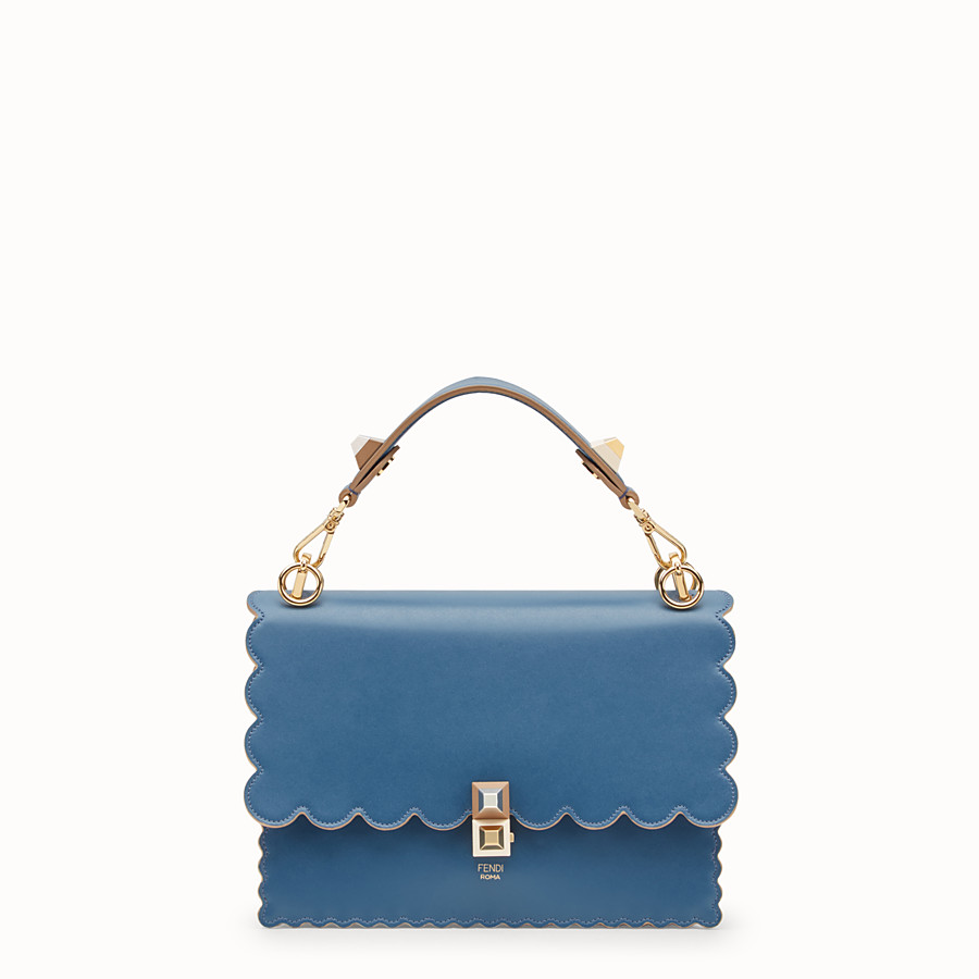 FENDI KAN I - Blue leather bag - view 1 detail