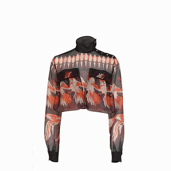FENDI BLOUSE - Multicolor mesh blouse - view 1 small thumbnail