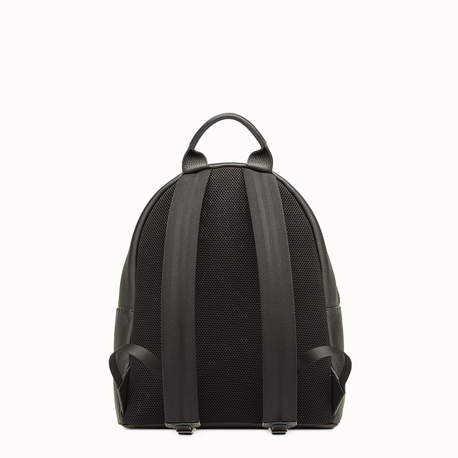 FENDI BACKPACK - Black leather handbag - view 3 detail