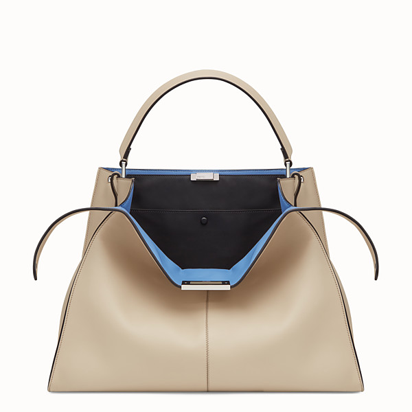 FENDI PEEKABOO X-LITE - Beige leather bag - view 1 small thumbnail