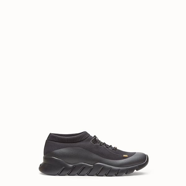 FENDI SNEAKERS - Black tech fabric low-tops - view 1 small thumbnail