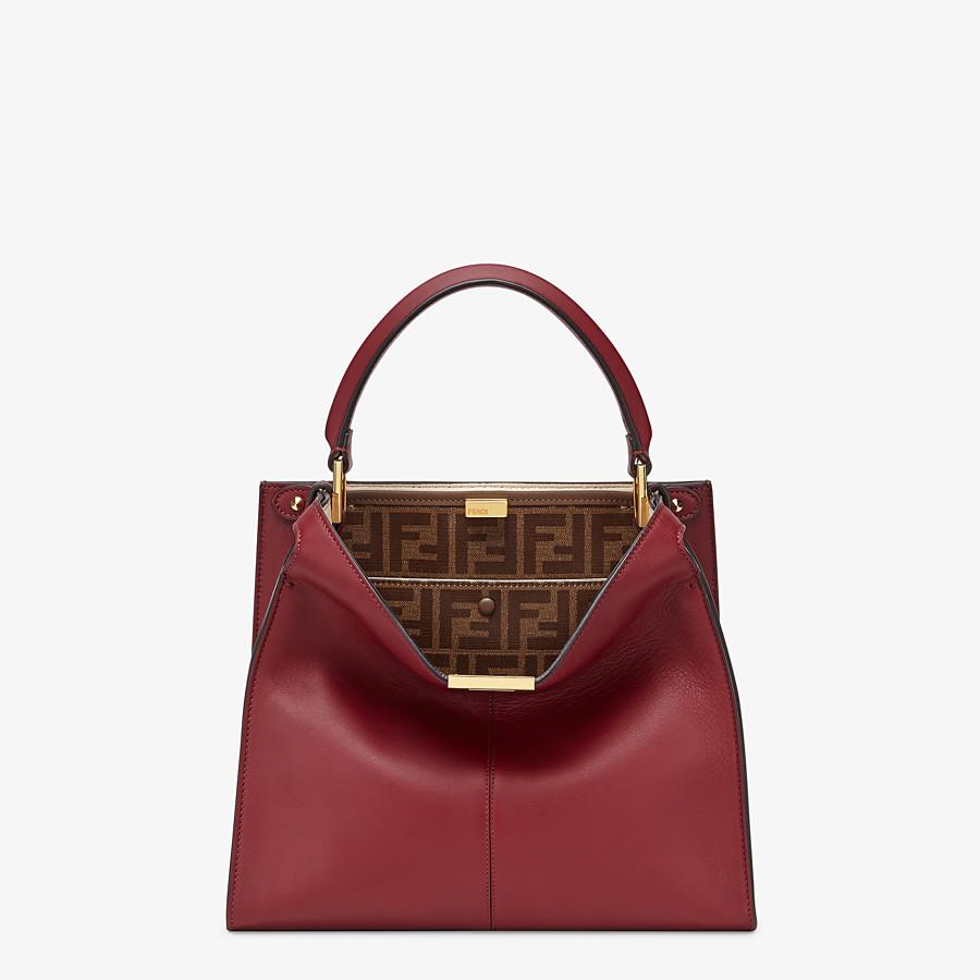 FENDI MEDIUM PEEKABOO X-LITE - Burgundy leather bag - view 3 detail