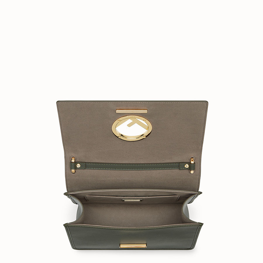 FENDI KAN I F - Green leather bag - view 4 detail