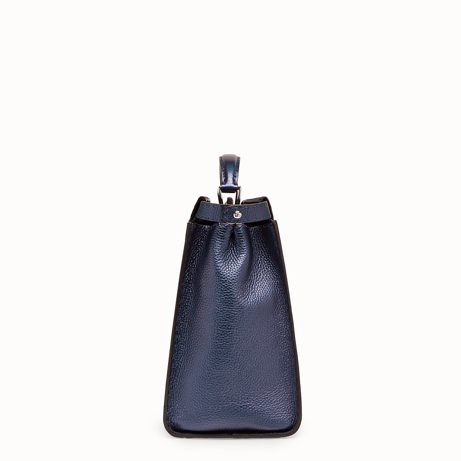 FENDI PEEKABOO REGULAR - Blue leather bag - view 2 detail