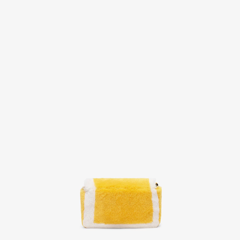 FENDI NANO BAGUETTE CHARM - Yellow mink charm - view 3 detail