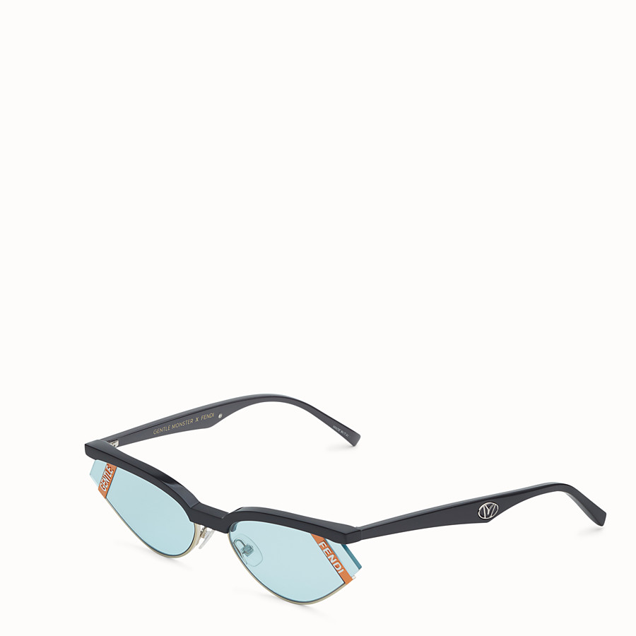 FENDI GENTLE FENDI - Grey and light blue sunglasses - view 2 detail