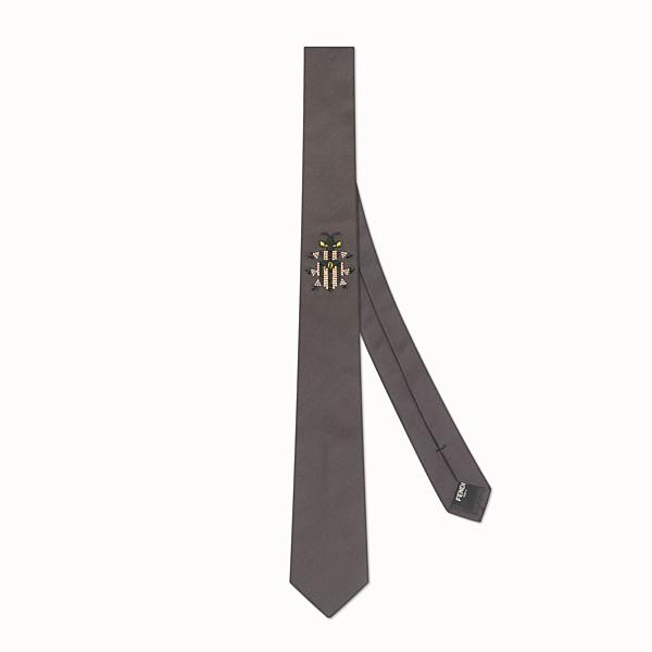 FENDI 領帶 - 灰色真絲領帶 - view 1 小型縮圖