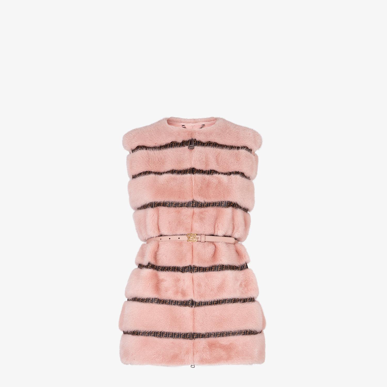 FENDI VEST - Pink mink vest - view 1 detail