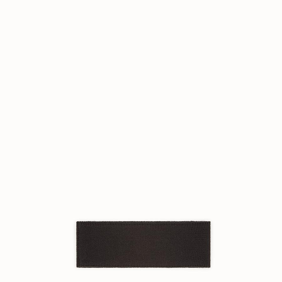 FENDI BANDEAU - Bandeau en laine noire - view 2 detail