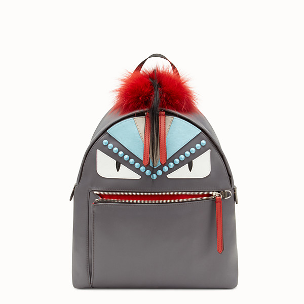 FENDI BACKPACK - Backpack in fabric and fur - view 1 small thumbnail