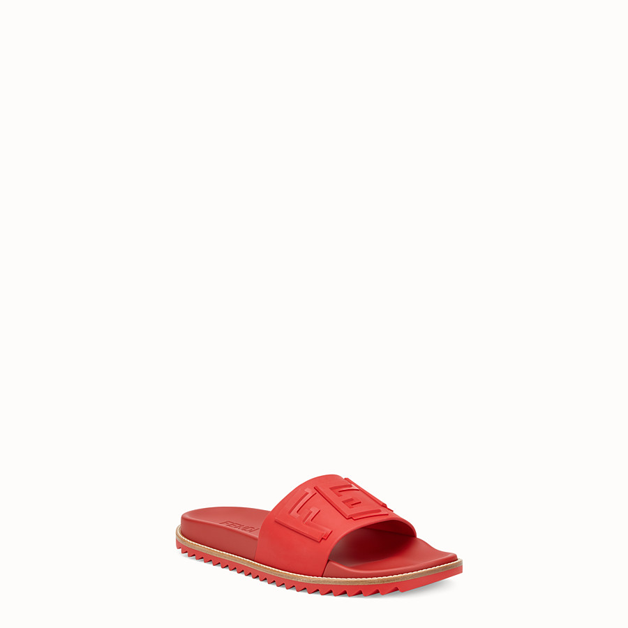 FENDI SLIDES - Red TPU fussbetts - view 2 detail