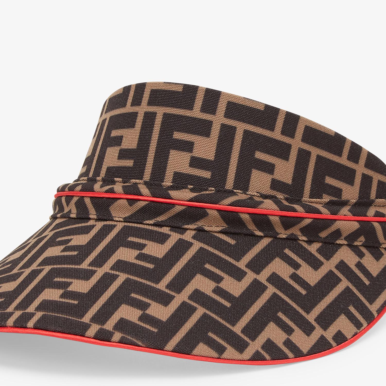 FENDI FENDIRAMA VISOR - Multicolor cotton visor - view 2 detail